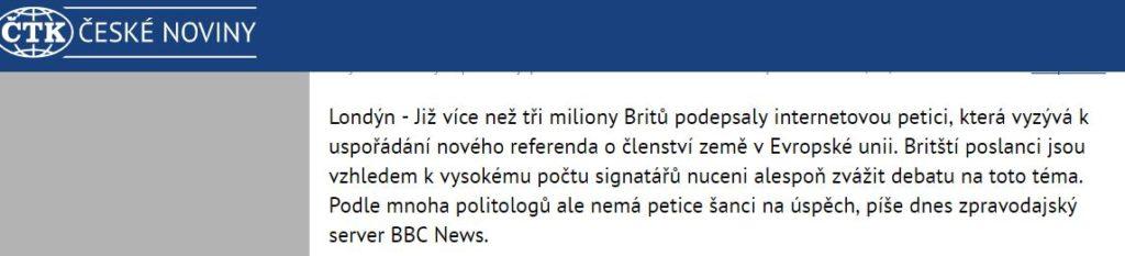 Lživý článek o petici Českénoviny.cz