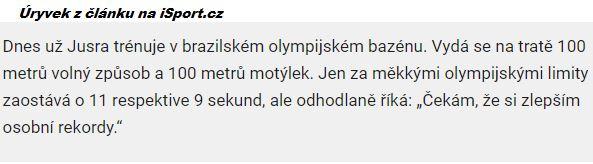 Úryvek z článku na iSport.cz