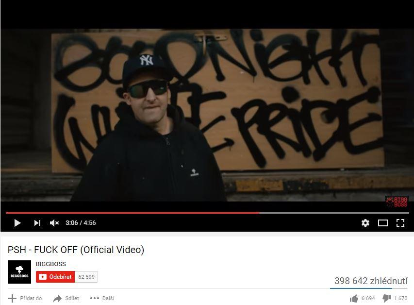 "PSH v klipu ""Fuck off"" naznačili podporu extremistům z Antifa"