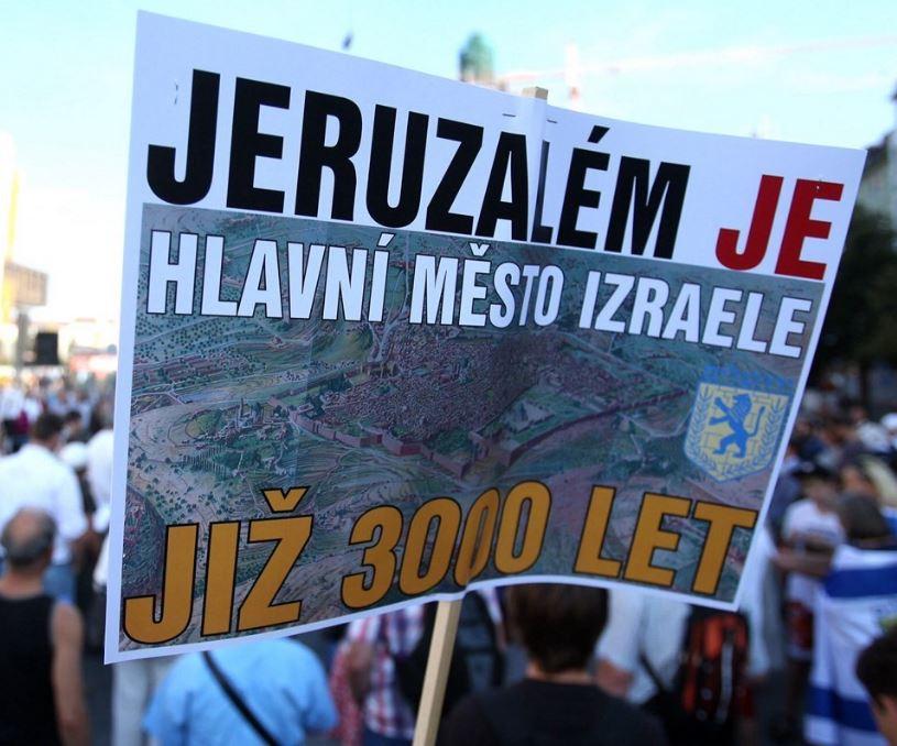 David Bohbot na demonstraci za Jeruzalém připomenul českou pomoc Izraeli