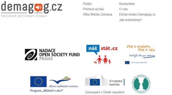 Demagog.cz nemůže být objektivní. Platí jej EU a George Soros