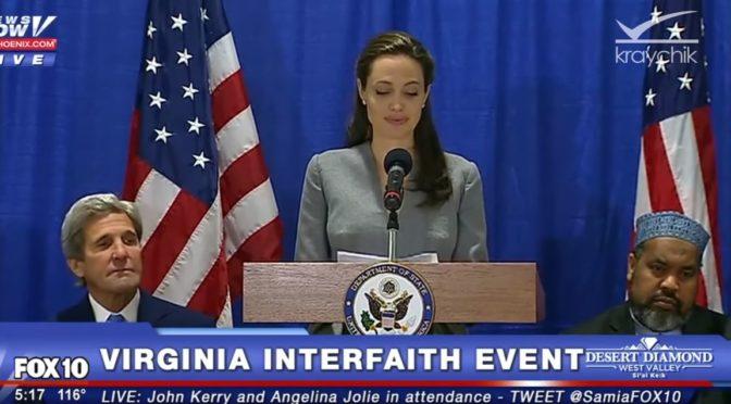 Americké celebrity se šikují za multikulturalismus, Angelina Jolie označila islám za nádherný