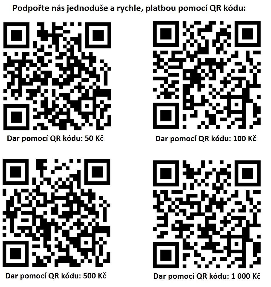 Můžete nám pomoci jednoduše, přes QR kód