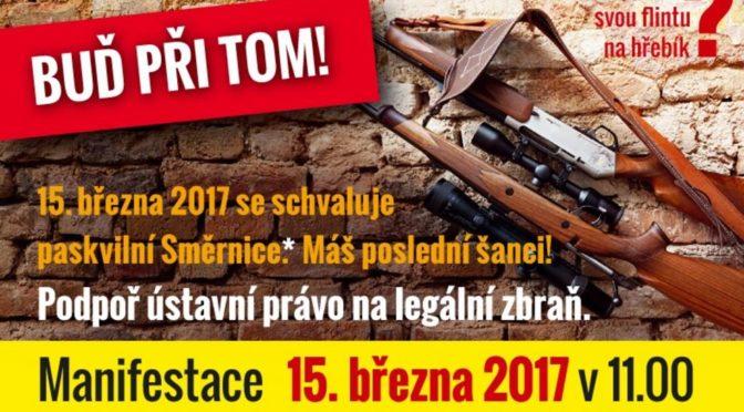 Dnes budou dvě demonstrace. Jedna za zbraně, druhá proti cizím armádám
