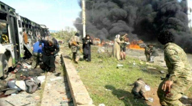 Sebevražedný útok na autobusový konvoj v Sýrii