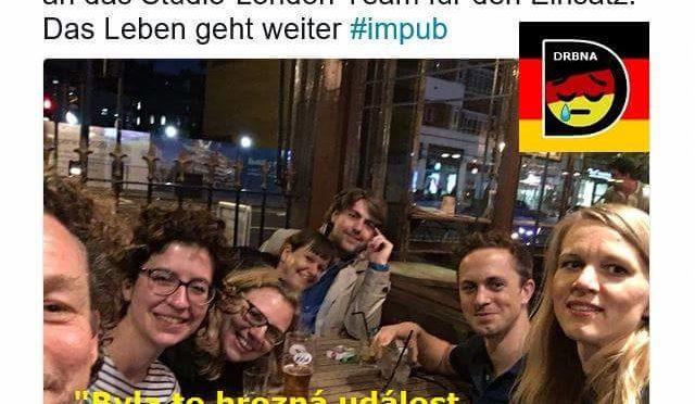 Redaktoři německé veřejnoprávní televize se po útoku v Manchesteru veselili v baru