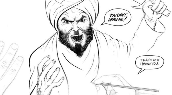 Geert Wilders sbírá karikatury proroka Mohameda. Muslimové posílají jejich autory do pekla