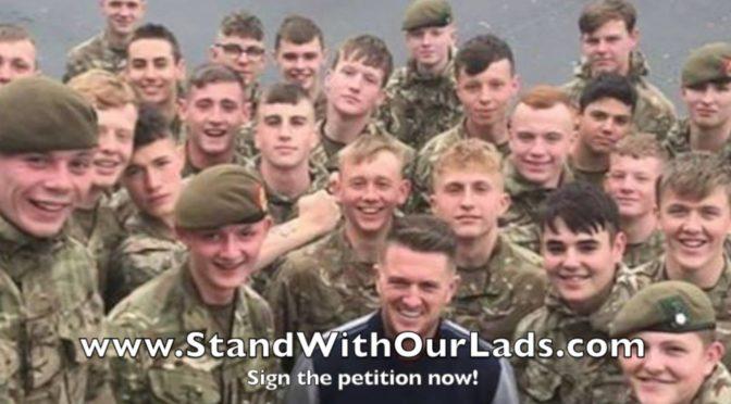 Vězení za selfie s Tommy Robinsonem? Členové britské armády čelí vyšetřování
