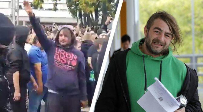 Hajlující demonstrant v Chemnitz byl nastrčený levičák